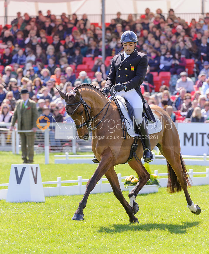 Albert Hermoso Farras and HITO CP - Dressage - Mitsubishi Motors Badminton Horse Trials 2013.