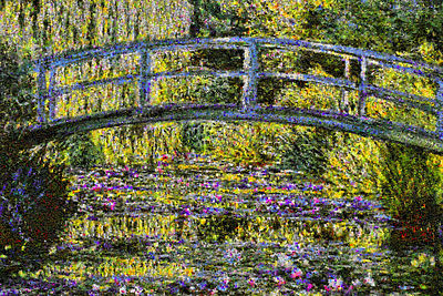 Giverny Flowers Mosaics photos