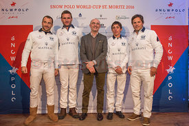 Team presentation at Sunny Bar Kulm Hotel St.Moritz