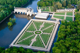 Chateau de Chenonceau from the Air