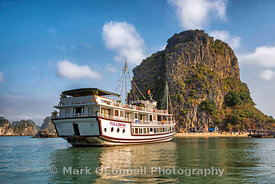 Viola cruise boat in Halong Bay Vietnam