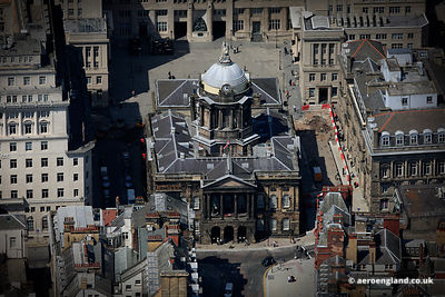 aerial photograph of Liverpool Town Hall at the junction of High Street,  Dale Street, Castle Street, and Water Street in Li...