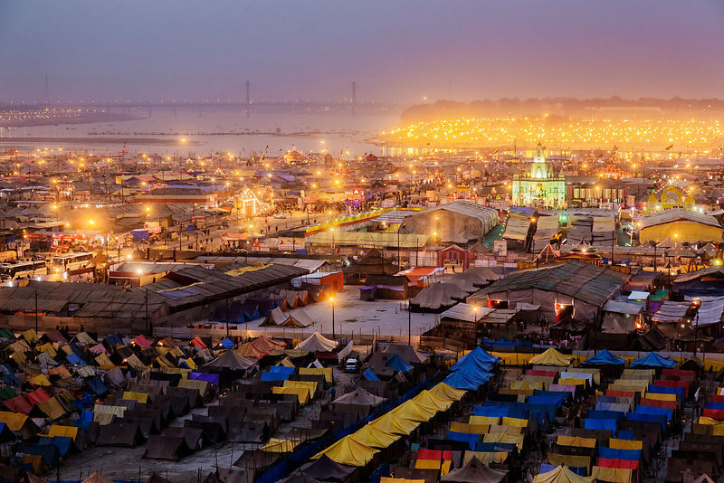 Kumbh Mela Site at Dusk