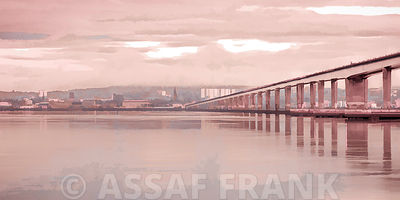 Tay Road Bridge over river Tay, Dundee, Scotland