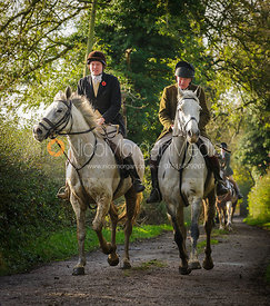 Marcus and Andrew Collie - The Cottesmore Hunt at Tilton on the Hill, 9-11-13
