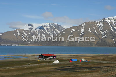 Longyearbyen Camping campsite at Longyear, Svalbard