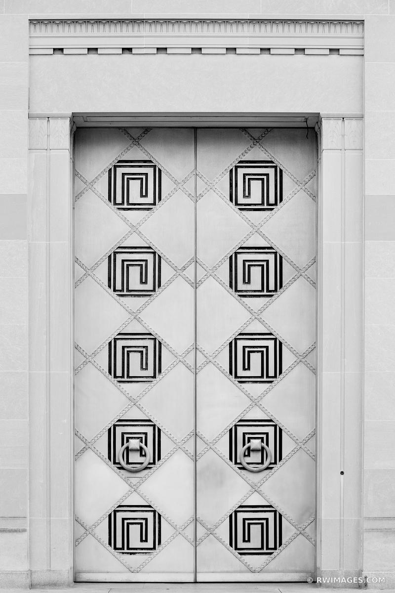 ART DECO DOORS DEPARTMENT OF JUSTICE WASHINGTON DC BLACK AND WHITE