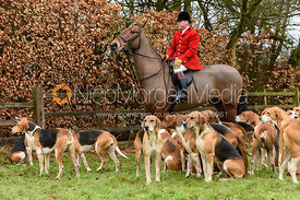 John Holliday at the meet at Eaton Grange. The Belvoir Hunt at Eaton Grange 7/2
