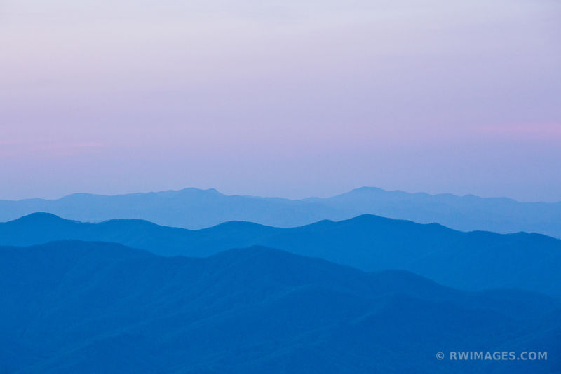 BEFORE SUNRISE SMOKY MOUNTAINS RIDGES