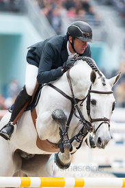 Paris, France, 17.3.2018, Sport, Reitsport, Saut Hermes - PRIX GL Events Bild zeigt Gregory WATHELET(BEL) riding MJT Nevados S...17/03/18, Paris, France, Sport, Equestrian sport Saut Hermes - PRIX GL Events. Image shows Gregory WATHELET(BEL) riding MJT Nevados S.