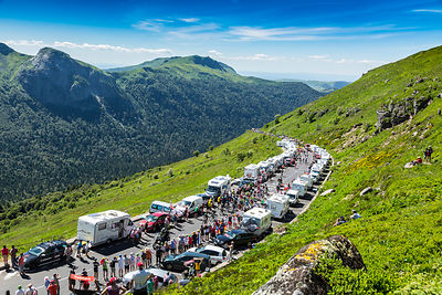 The Peloton in Mountains - Tour de France 2016