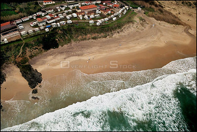 SPAIN Near O Grove -- 15/12/2002 -- Aerial view of a polluted beach near O Grove on the Galician coast. Thousands of voluntee...