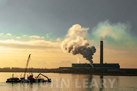 Fawley Power Station from Southampton Water.
