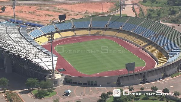 Aerial shot of the Royal Bafokeng Stadium in the North West Province Royal Bafokeng Stadium North West South Africa