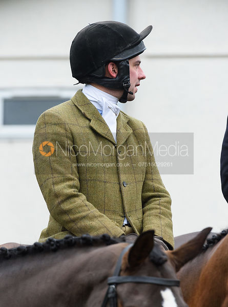 Oliver Greenall At the meet. The visit of the Wynnstay Hounds to the Cottesmore 27/11