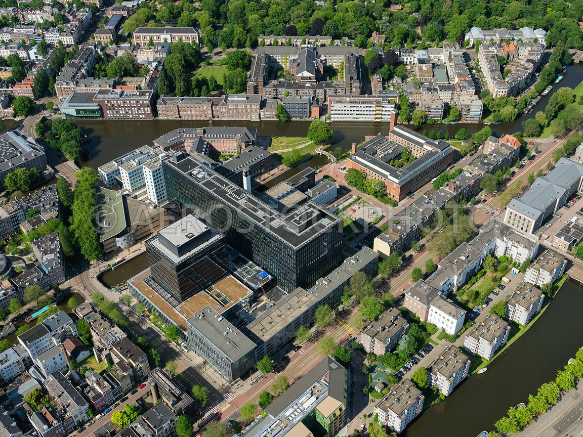 aerial view | University of Amsterdam location Roeters