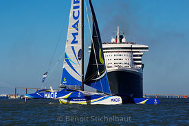 The Bridge 2017 - Saint-Nazaire le 25 juin 2017 - Départ de la Transat du centenaire - Queen Mary 2 et Trimarans Ultime