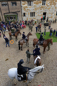 Collecting in the quad - Dianas of the Chase - Side Saddle Race 2014.