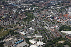 Oldham aerial photograph of the area surrounding Havelock Street, Scottfield and Falcon Street Primrose Bank looking towards ...