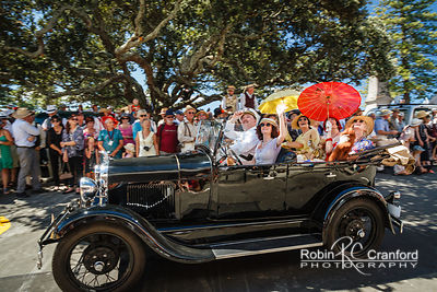 Art Deco Saturday 2014.  Vintage Car Parade.  License Plate ?  Entry #178