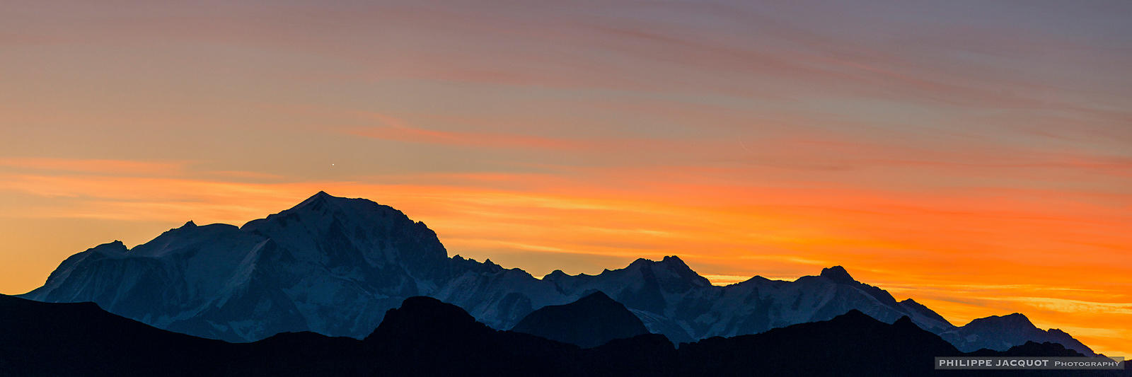 Venus Over the Mont-Blanc - Annecy Semnoz