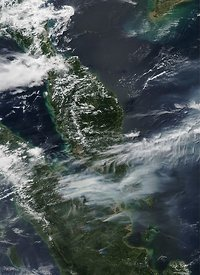Air pollution from Indonesian fires