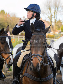 Boogie Machin at the meet. The Cottesmore Hunt at Tilton