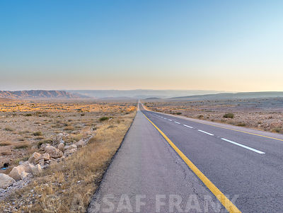 Highway through Desert in Israel