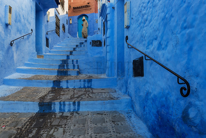 Steps in the Blue City