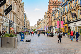 Entrance to Princes Square in Buchanan Street Glasgow