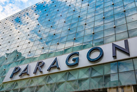 SINGAPORE CITY, SINGAPORE - OCTOBER 09, 2016:  The Paragon Shopping mall on Orchard road. Paragon is an 18 story upmarket sho...