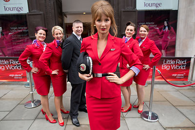Millie Mackintosh for Virgin Atlantic's 'Little Red'
