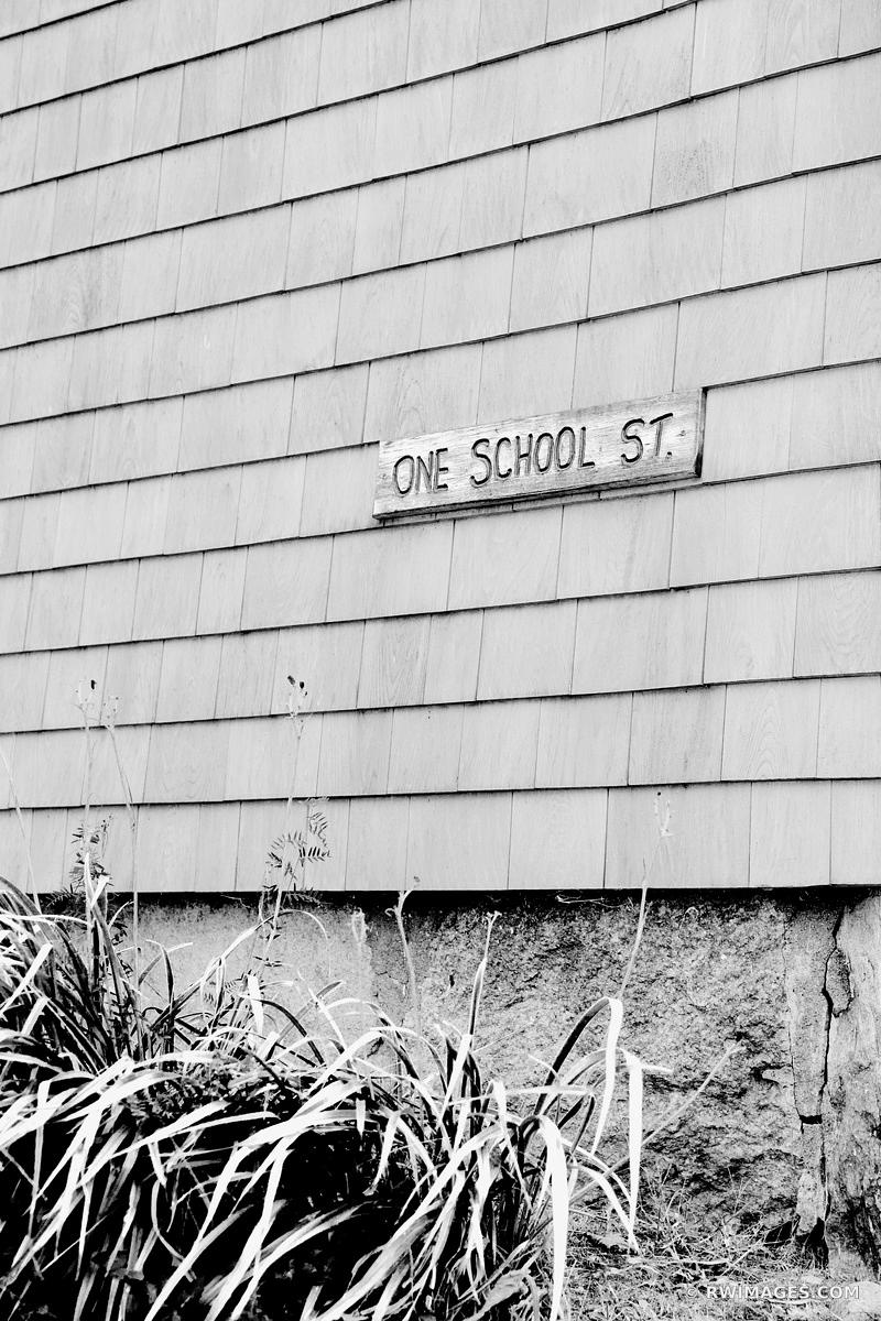 ONE SCHOOL STREET WOODS HOLE MASSACHUSSETTS BLACK AND WHITE