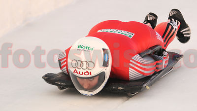 Barbara Hosch Skeleton Racer in Olympia Bob Run of Saint Moritz