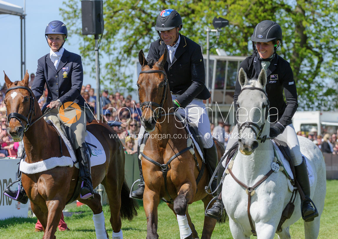 Retirement of HEADLEY BRITANNIA, INONOTHING and LENAMORE, Mitsubishi Motors Badminton Horse Trials 2013