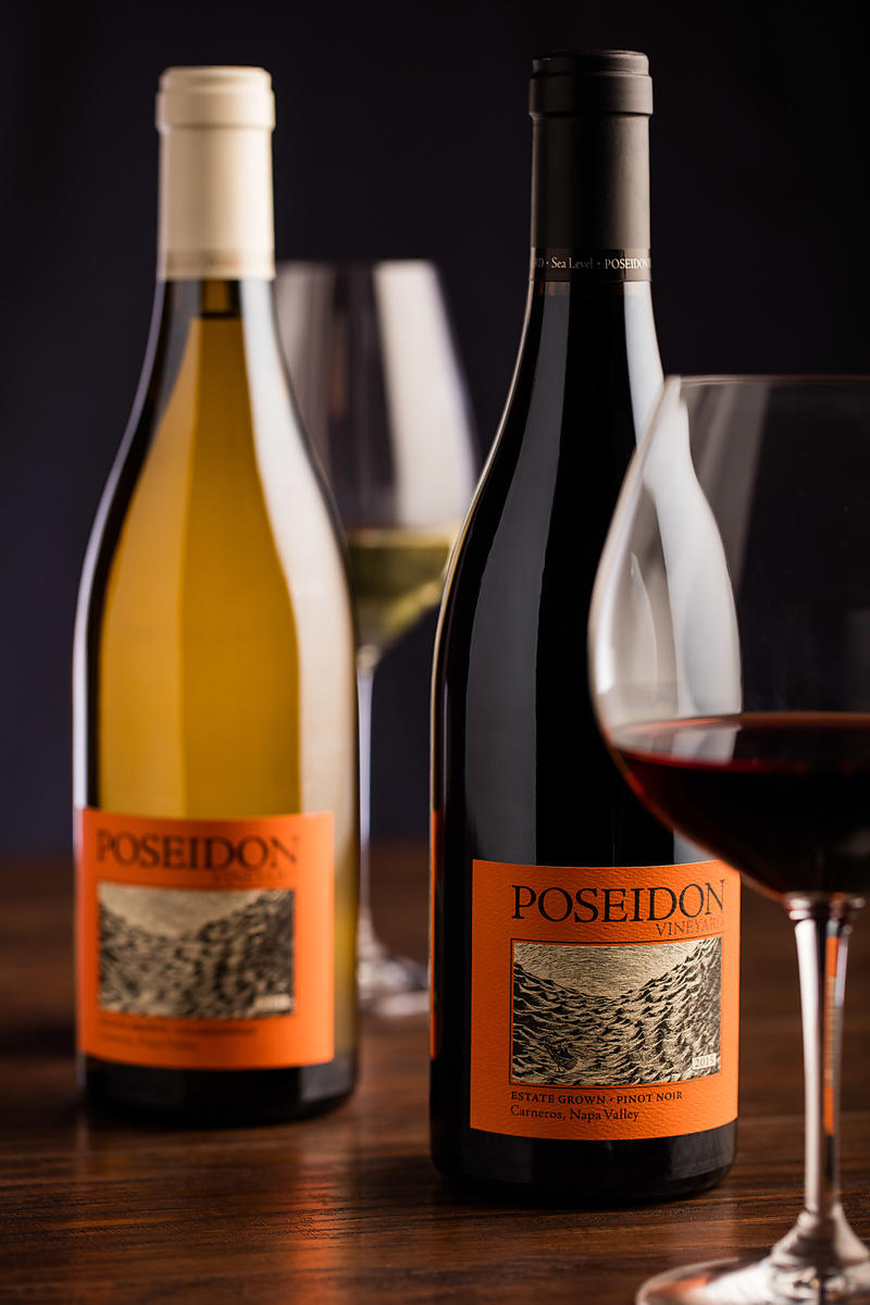 Elegant Sonoma bottle shots by Jason Tinacci
