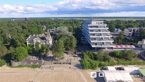Aerial view of Jurmala Beach Resort and Hotel, Latvia