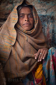 Mother of a boy with cerebral palsy in Pushkar, Rajasthan, India