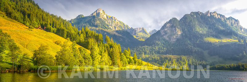 Panorama - Black lake mountains - Schwarzsee