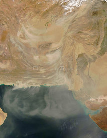 SOUTHWESTERN ASIA -- 07 Apr 2005 -- Across a wide portion of southwestern Asia, winds were whipping across deserts, sending a...