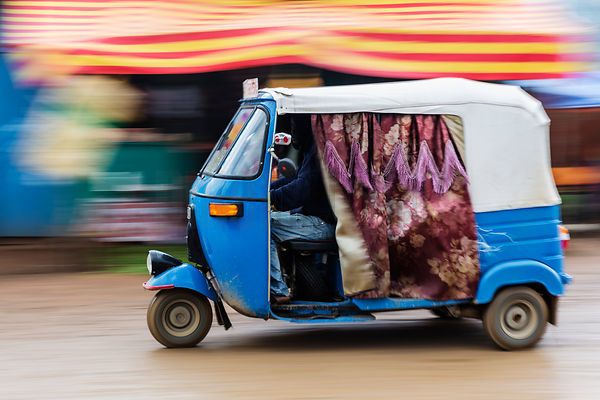 Motion Blur of Tuk Tuk