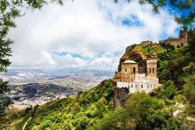 Norman Castle on Mount Erice - Sicily Italy