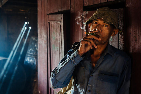 Portrait of a Boat Worker on the Yangon River