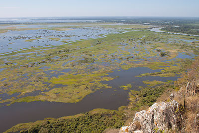 Pantanal as seen from Caracara Hill, Amolar mountains, Matogrossense National Park, Pantanal, Brazil