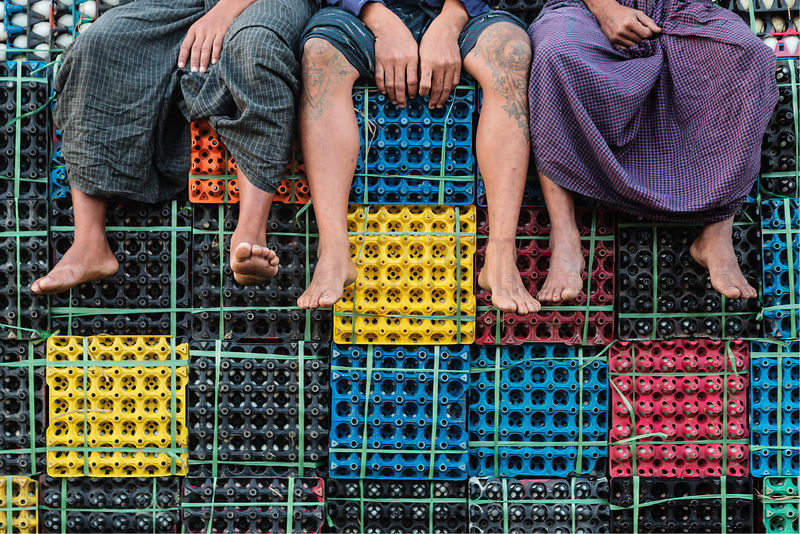 Egg Sellers at the Yangon Jetty