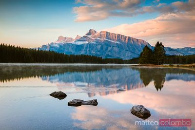 Mt Rundle and Two Jack lake, Banff National Park, Canada