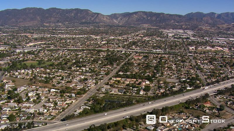 Flying across San Fernando Valley, California.