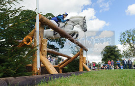 Louisa Milne Home and KING EIDER - cross country phase,  Land Rover Burghley Horse Trials, 7th September 2013.