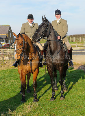 The Cottesmore Hunt at Stone Lodge Farm 24/1