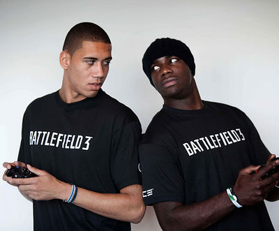 Chris Smalling and Micah Richards